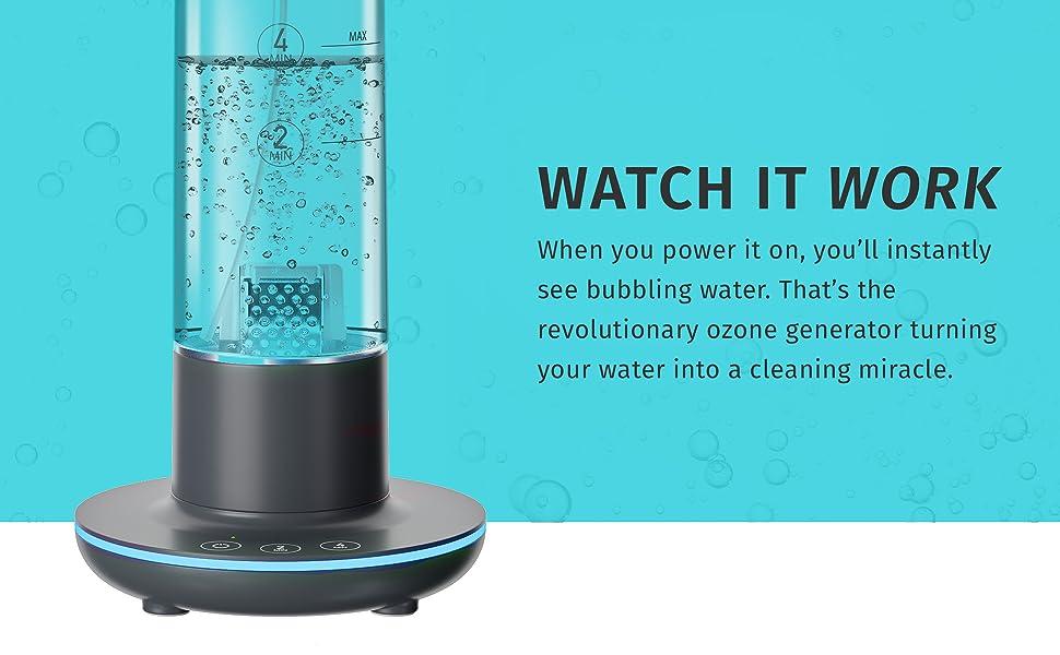 homedics,disinfectant spray bottle air ozone generator odor eliminator cleaner portable sanitizer