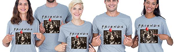Friends Horror Halloween T-Shirt Michael Myers Jason Horror Scary Movies Gift Tee Shirt