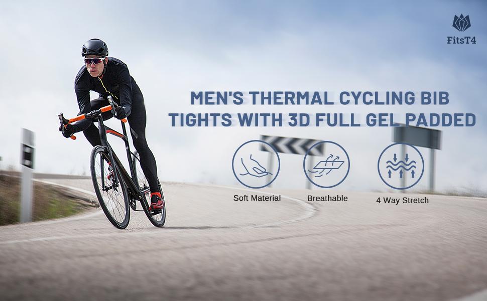 Details about  /Mens Cycling Bib Pants Bicycle Bike Tights Riding Sports Long Trousers M-4XL