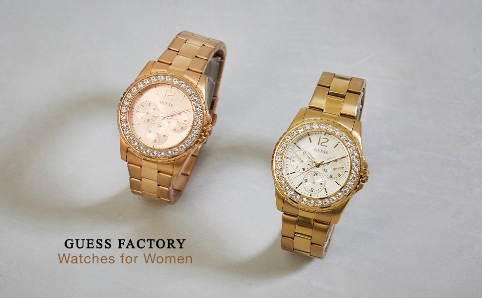 Guess Factory womens watch link bands dressy day time