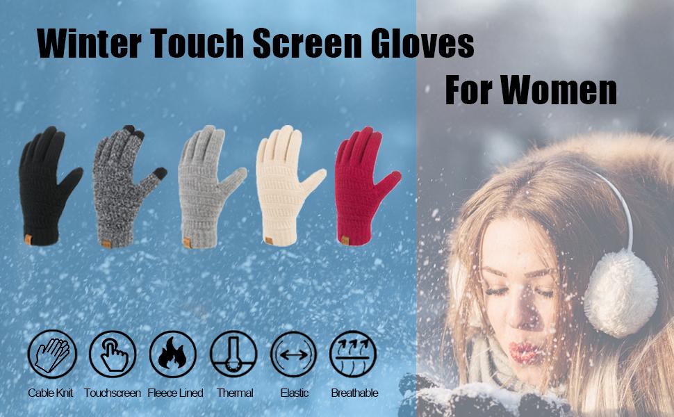 women winter warm gloves