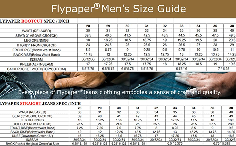 Flypaper Men's bootcut jeans straight jeans