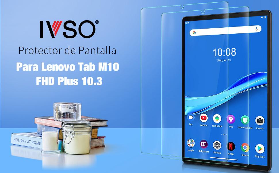 Alta Claridad Protector Pantalla para Lenovo Tab M10 FHD Plus 10.3 Cristal Vidrio Templado Premium 9H Dureza Anti-ara/ñazos Sin Burbujas Pel/ícula Alta Transparencia Protectora