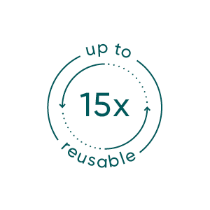 reusable up to 15 times
