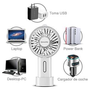 SAWAKE Ventilador Portátil, Mini Ventilador de Mano Eléctrico con ...