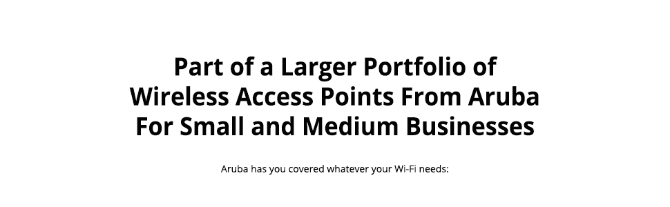 Large Portfolio of Access Points from Aruba