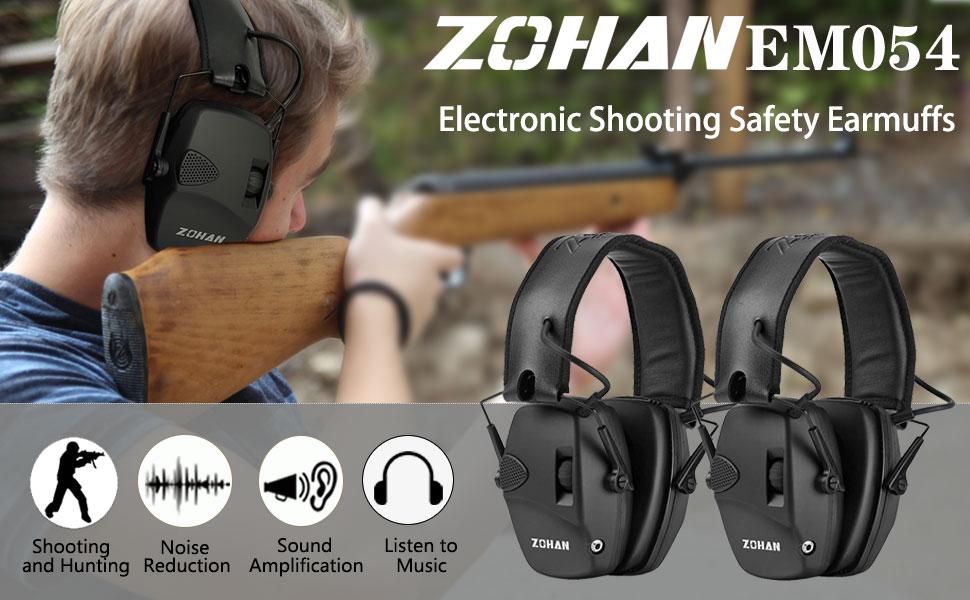 Electronic shooting earmuffs