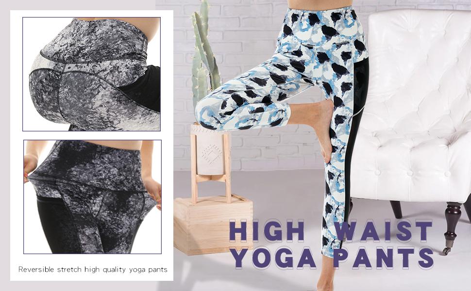 women tie dye yoga pants mesh pockets leggings