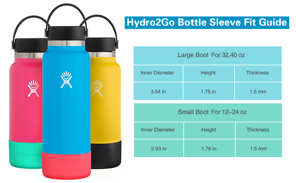 Partypeople Protective Silicone Boot Sleeve for 32 oz Flask Anti-Slip Bottom Sleeve Cover,2 Pack 40 oz for Sports Water Bottles Accessories Sleeve