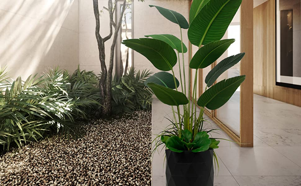 Artificial TRAVELLERS PALM Tree Fake Imitation Home Décor Plant Indoor Silk Leaf luxury Deluxe