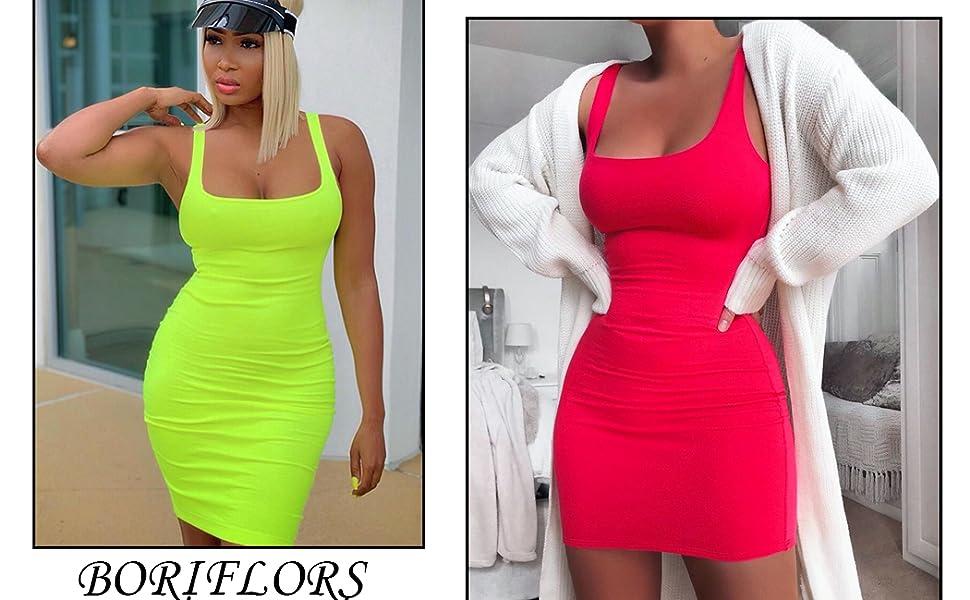 boriflors basic tank dress