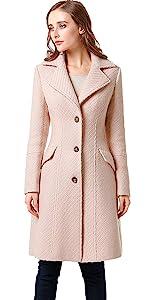 BGSD Women's Wool Blend Walking Coat