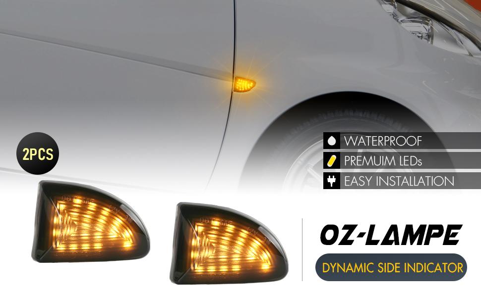Led Dynamische Led Seitenblinker Blinker Oz Lampe 2 X Bernstein 18 Smd Mit Nicht Polarität Can Bus Fehlerfrei Oe Buchse Rauch Für Ben Z Smart Fortwo W451 Coupe Cabrio 2007 2019 Auto