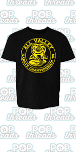 Karate Kid 80/'s Logo White Youth T-Shirt