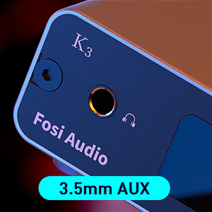 Fosi Audio K3 HiFi Headphone Amplifier DAC Converter 24Bit/384kHz Native DSD256 Digital-to-Analog