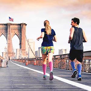 Sparthos Compression Sock 20-30 mmHg Knee High Sock for Sport, Running, Travel