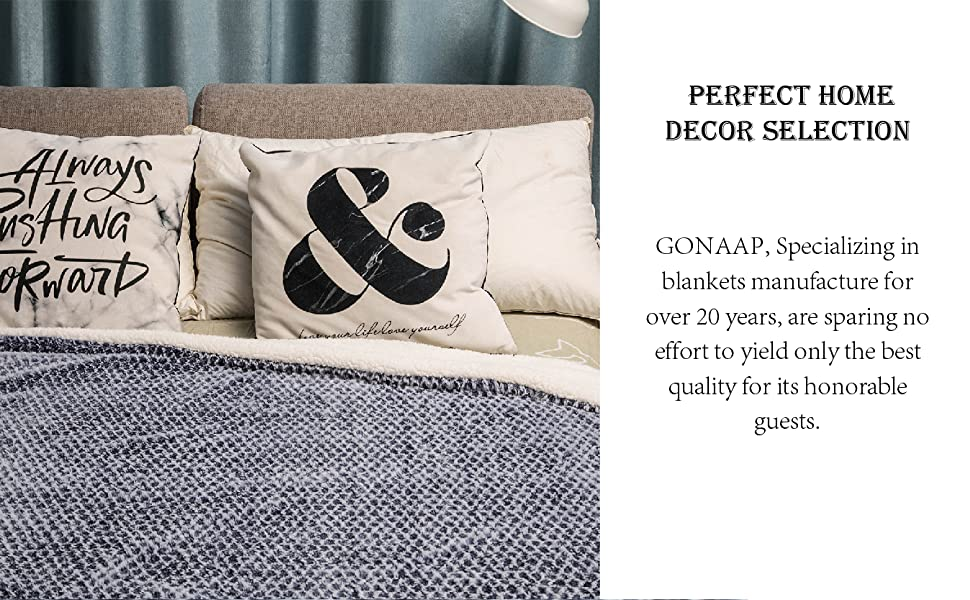 super soft blanket navy and perfect decoration for home