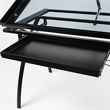 black drawing table for engineers