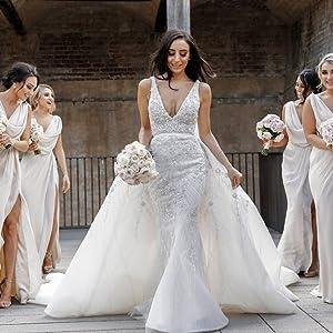 Mermaid Bridesmaid Dress Long