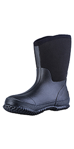 TENGTA Mens Waterproof Mid-calf Hunting Fishing Boots
