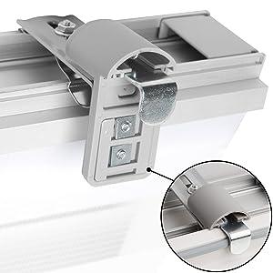 Sol Royal Soldecor Dk9 Double Store Enrouleur à Cassette Jour Nuit Clips Klemmfix Avec Ou Sans Percage Blanc 120x220 Cm