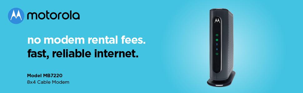 No modem rental fees. Fast, reliable Internet.