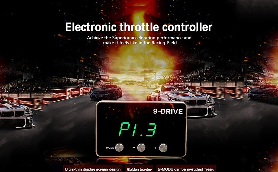 universal de 9 unidades y 9 modos de control electr/ónico del acelerador para Jeep Wrangler JK 2007-2018 APROTII Controlador de respuesta del acelerador