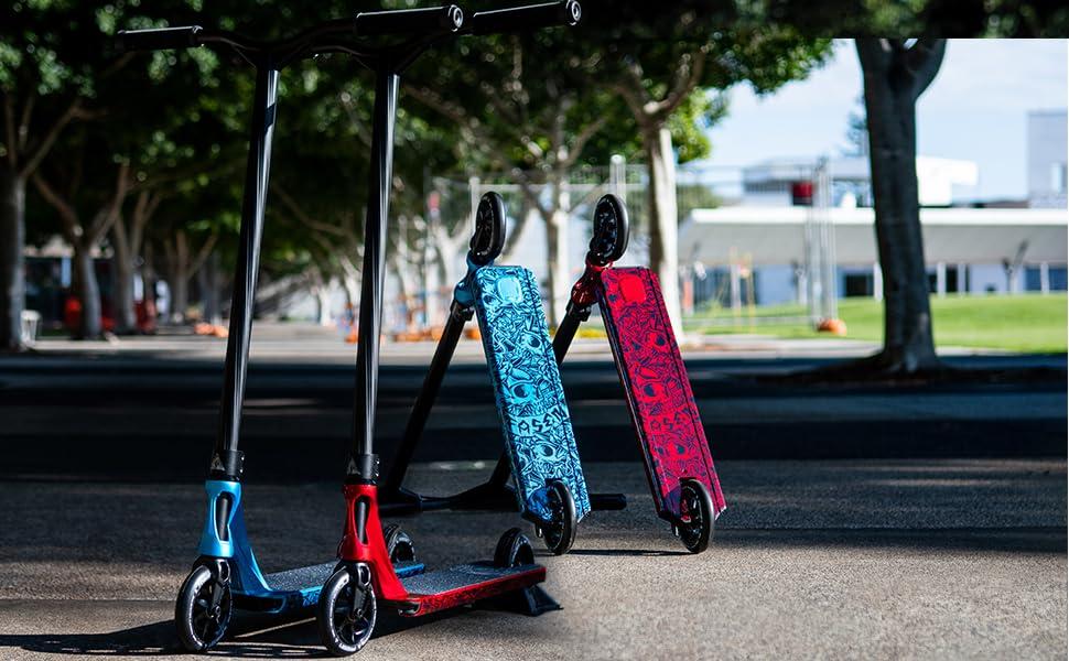Blue Fasen Spiral Stunt Scooter Deck