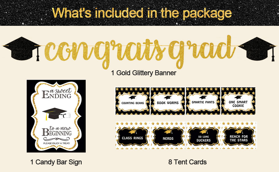 Graduation Party Decorations 2021 Candy Buffet Labels Black and White Graduation Labels Name Tags G7 Food Labels Buffet Cards Template