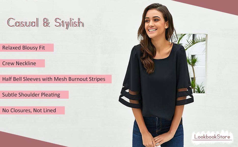 crew neck blouse for women