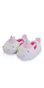 Kids Girls Comfortable Non-Skid Cozy Soft Unicorn House Slippers Socks Slip On Shoes,Warm/&Cute