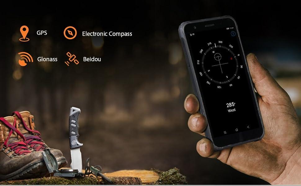 BV4900 Rugged phone Multifunction GPS.