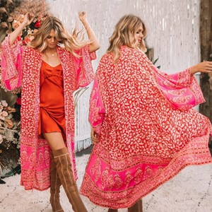 Red Kimono Cardigan