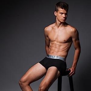 black mens trunk underwear