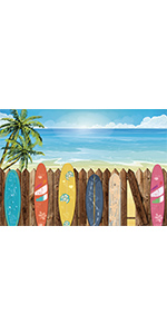 Summer Surfboard Backdrop
