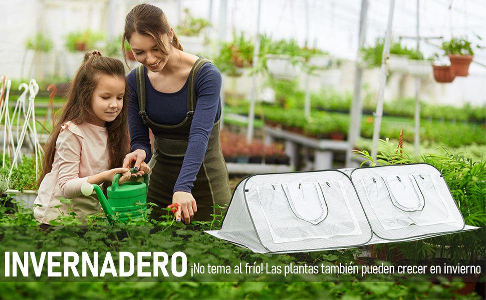 Outsunny Invernadero de Jardín 240x120x75 cm Emergente con 4 Puertas Portátil Bolsa de Transporte