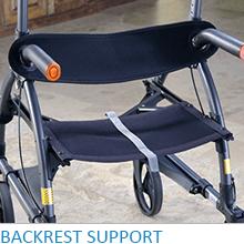 Upwalker, UPWalker upright walker, walker, walk upright, backrest, back support, back rest