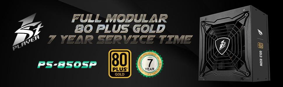850W power supply 80+ gold