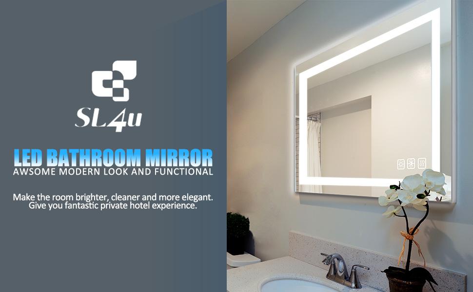 LED Bathroom mirror bath lighted mirror dimmable