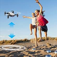 Flashandfocus.com 5ccbed06-4adf-478d-a529-b493608be45a.__CR0,0,300,300_PT0_SX220_V1___ SIMREX X300C Mini Drone RC Quadcopter Foldable Altitude Hold Headless RTF 360 Degree FPV Video WiFi 720P HD Camera 6…