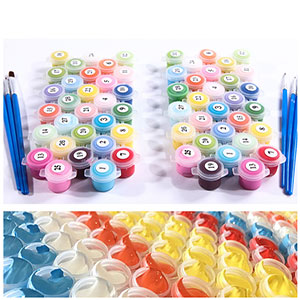 painting by numbers paint set