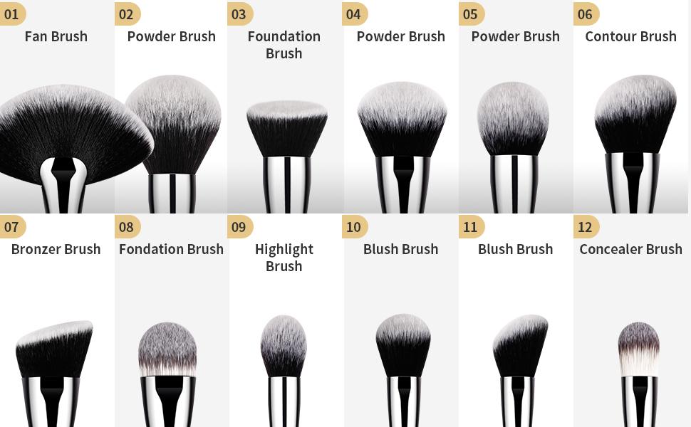 DUcare Professional Makeup Brushes