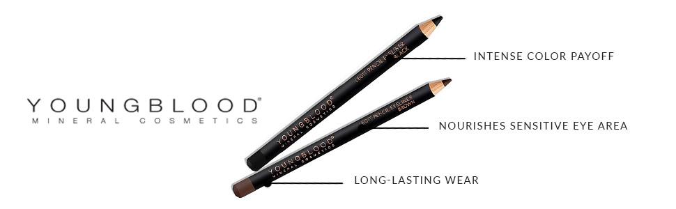 brown pencils eyeliner liquid smudge proof waterline eyeshadow sharpening hypoallergenic sensitive