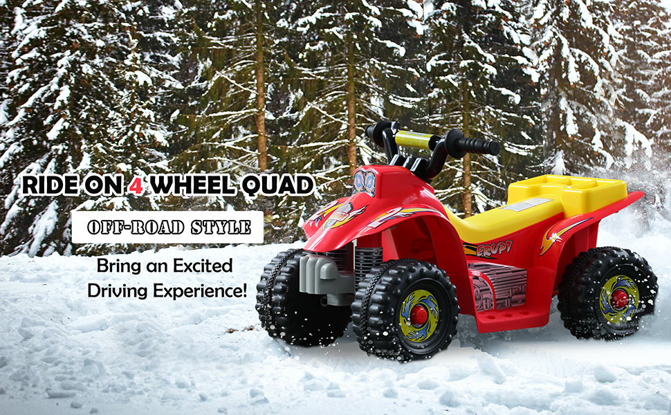 ride on 4-wheel quad