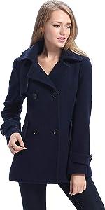 BGSD Women's Piper Wool Blend Pea Coat