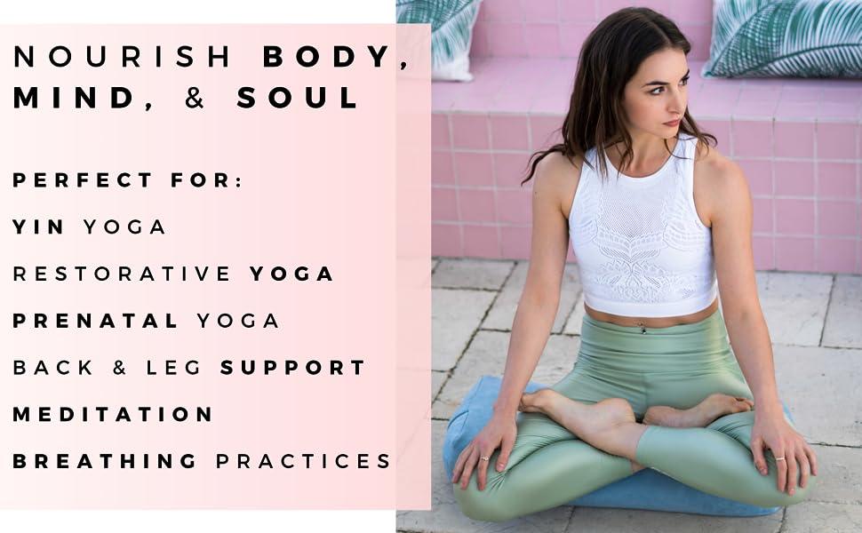 meditation, bolster, yoga