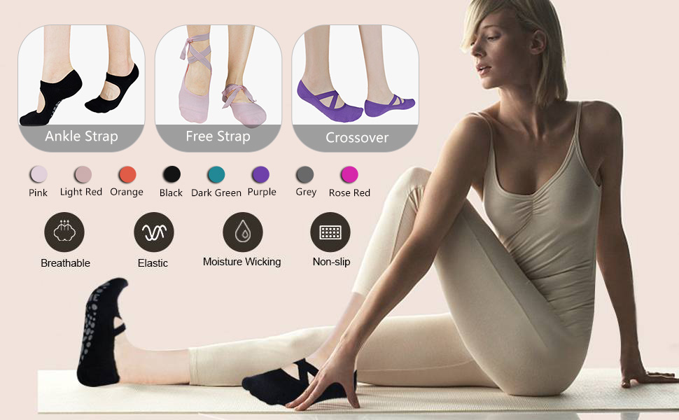 yoga socks women,womens yoga socks,gripped sports socks,3 pairs yoga socks for women,yoga socks