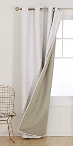 Premium Bonding Microfiber Total Blackout Curtains