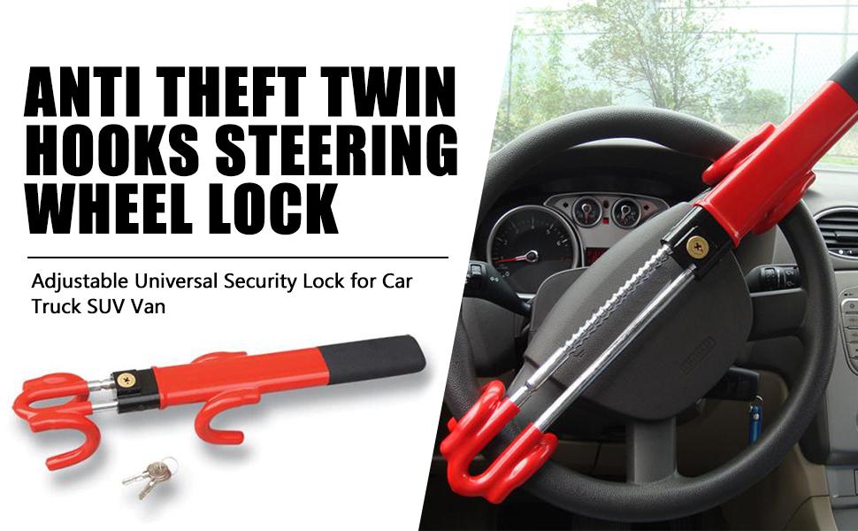 Premium heavy duty steering wheel lock CAR VAN MOTORHOME pin coded security