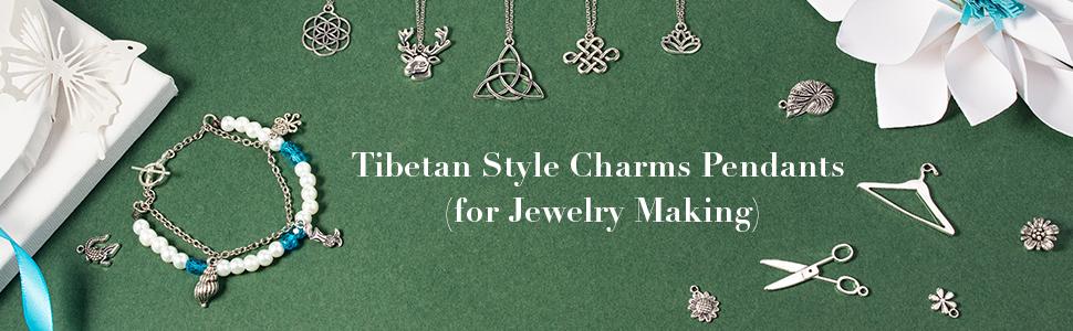 Charms Pendants Tibetan Alloy